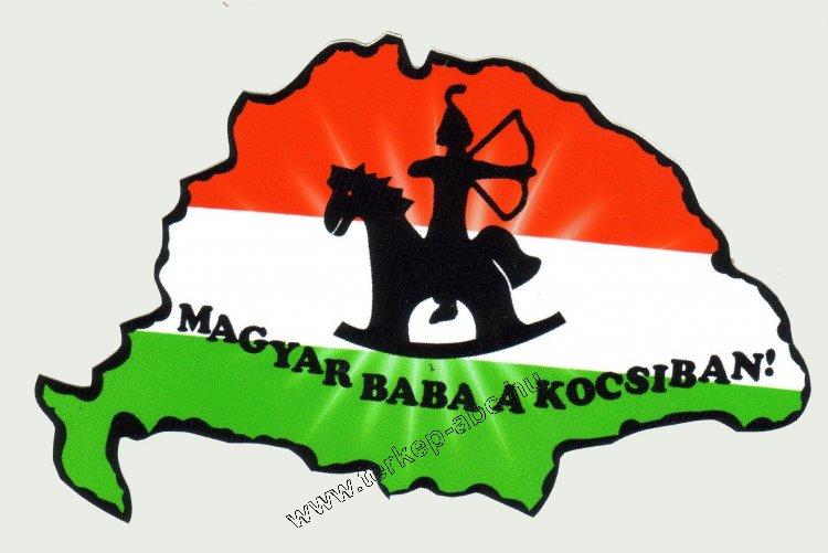 Nemzeti színű Nagy-Magyarország Magyar baba a kocsiban külső matrica ... 7dd3527a3d