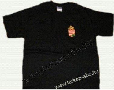 b32b2c0c5 Hímzett címeres fekete póló : Magyaros termékek és térképek - magyar ...