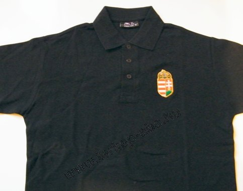 3aa35a025 Hímzett címeres galléros fekete póló : Magyaros termékek és térképek ...