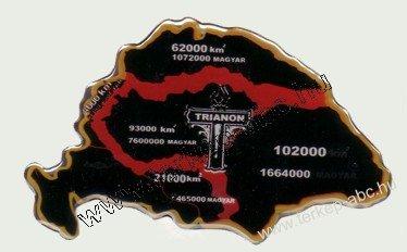Műgyantás domború Trianon matrica   Magyaros termékek és térképek ... 8df3331c08