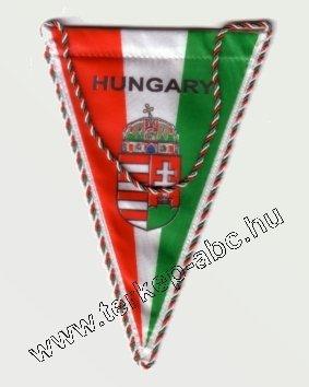 a842d49429 Autós zászló, 3 szögletű, Hungary felirattal, címeres, zsinóros ...